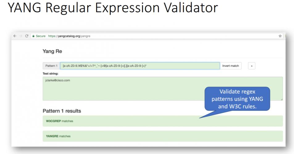 YANG Catalog Latest Development (IETF 99 Hackathon)